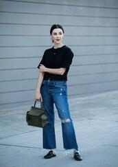 inspades,blogger,jeans,top,bag,jewels,shoes