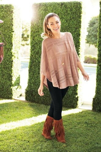 shoes blouse indian boots lauren conrad