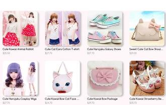 t-shirt harajuku japanese fashion kawaii kawaii dark kawaii dress cute cute shoes skirt shoes bag hair accessory