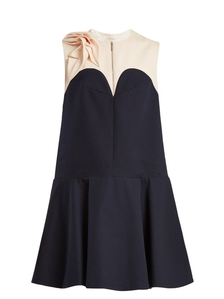 DELPOZO dress cotton white black