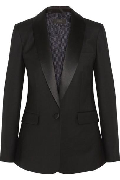 J.Crew blazer black wool satin jacket