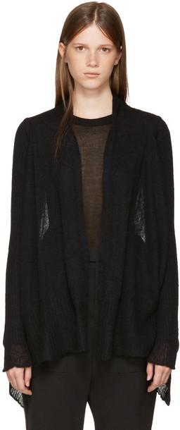 Rick Owens cardigan cardigan black sweater