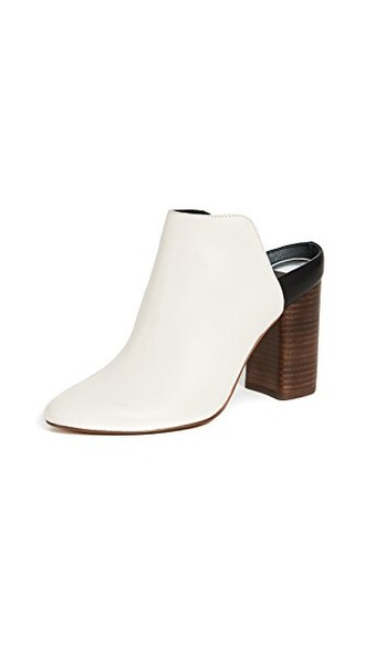 backless mules white shoes