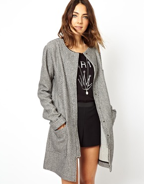 ASOS | ASOS Popper Front Lightweight Coat at ASOS
