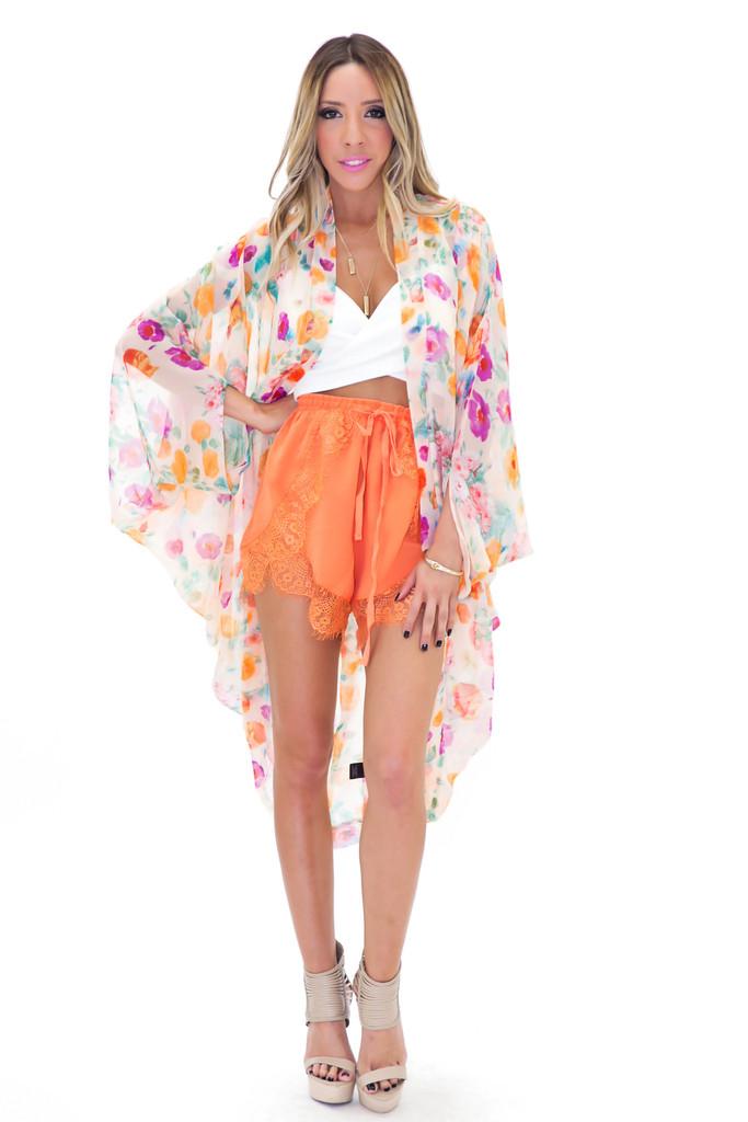Ellie floral chiffon kimono | haute & rebellious