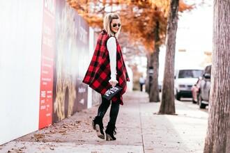the courtney kerr blogger jacket blouse pants shoes bag sunglasses