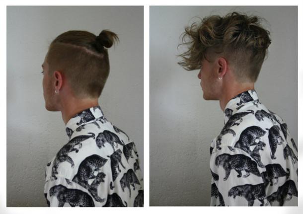 2582c99f734b blouse brand print animal print animal menswear hipster menswear mens shirt  shirt hair white black button