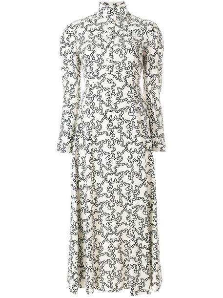 Valentino dress midi dress women midi white print