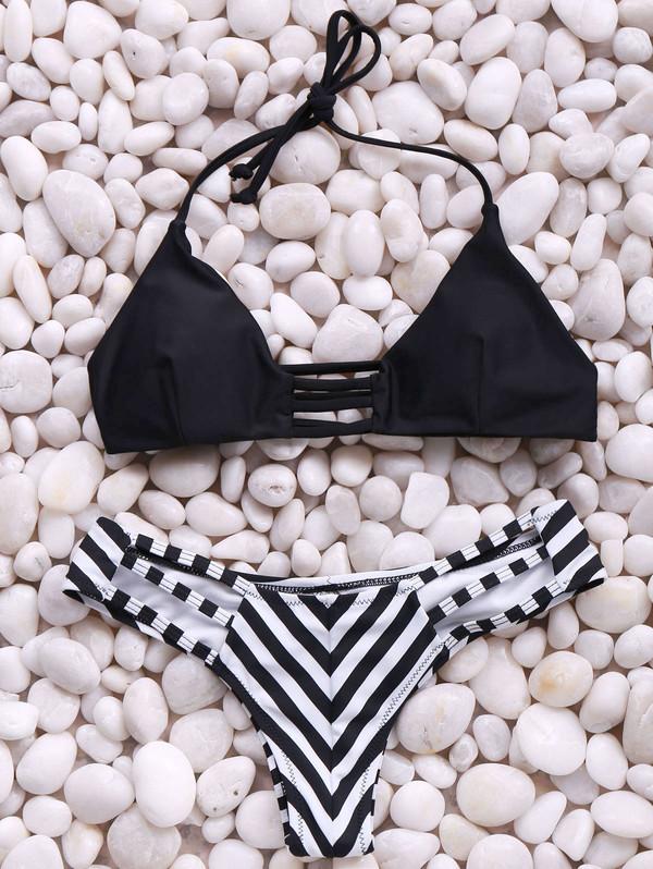 swimwear bikini summer fashion style beach stripes dressfo