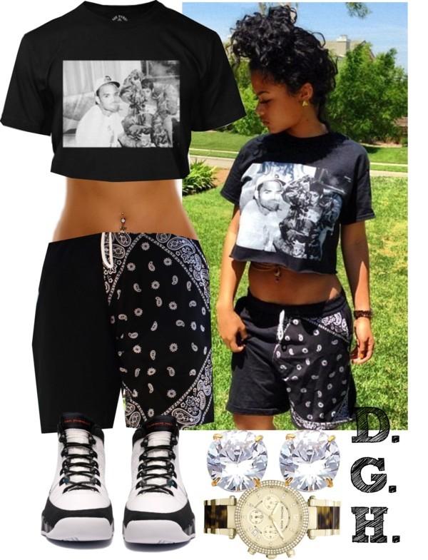 shorts shirt black crop top bandana print black shorts