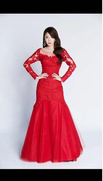 dress red dress ball gown dress long prom dress long dress prom dress red prom dress mermaid prom dress long sleeve prom dress evening dress long evening dress evening outfits formal dress winter formal dress formal dresses evening mermaid red prom dresses lace prom dress prom dress 2016 long prom dresses 2016