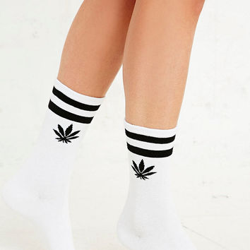 Weed Sport Socks in White - Urban Outfitters on Wanelo