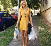 flowers,floral dress,alexis ren,dress,summer dress,mustard,cute dress,summertime,mustard dress,spring dress