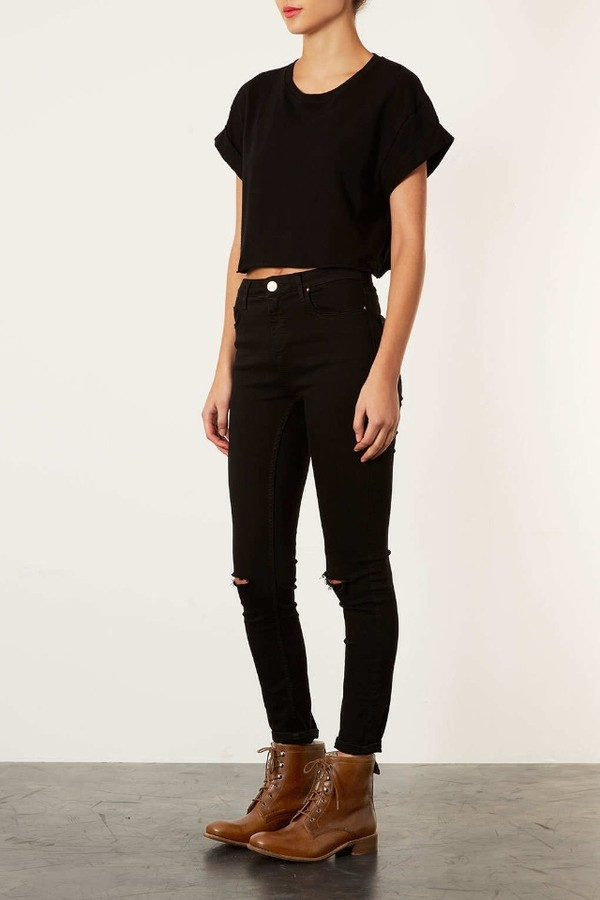 High waisted black skinny jeans tumblr