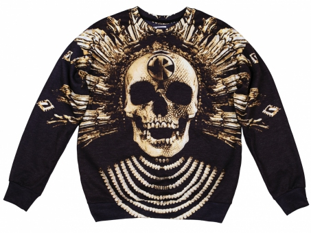 Original SEXY SWEATER BAROQUE SKULL | Fusion® clothing!