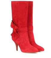suede boots,suede,red,shoes