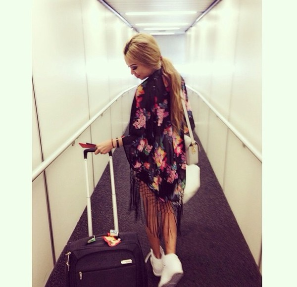 top blouse floral kimono
