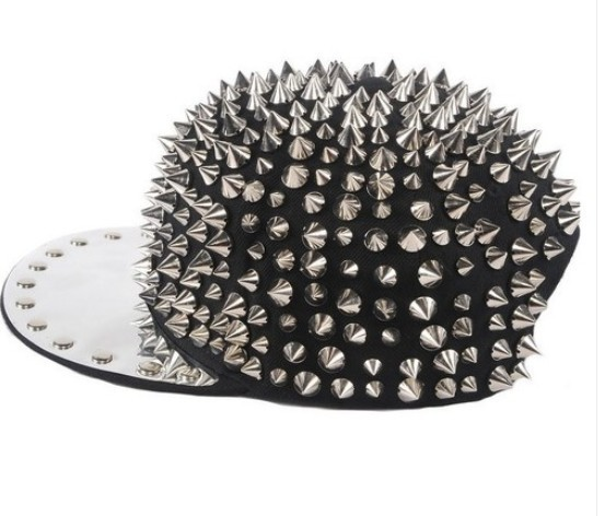 Hedgehog Punk Hiphop Men Women Kid Unisex Hat Spikes Spiky Studded Cap-in Hats & Caps from Apparel & Accessories on Aliexpress.com