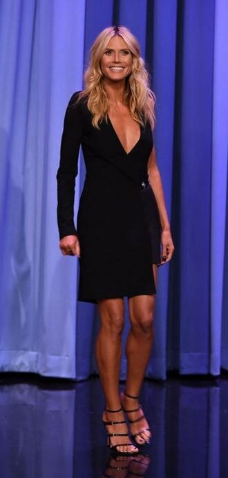 dress one shoulder sandals heidi klum black