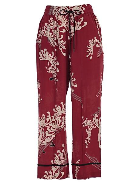 McQ Alexander McQueen red pants