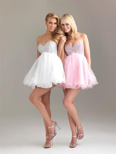 dress white dress graduation dresses pink dress beautiful prom dress pretty short dress white dress white prom dress short dress short prom dress