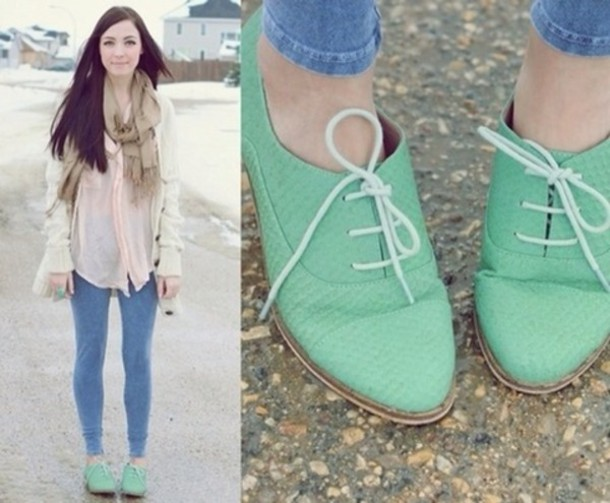shoes mint green shoes flats