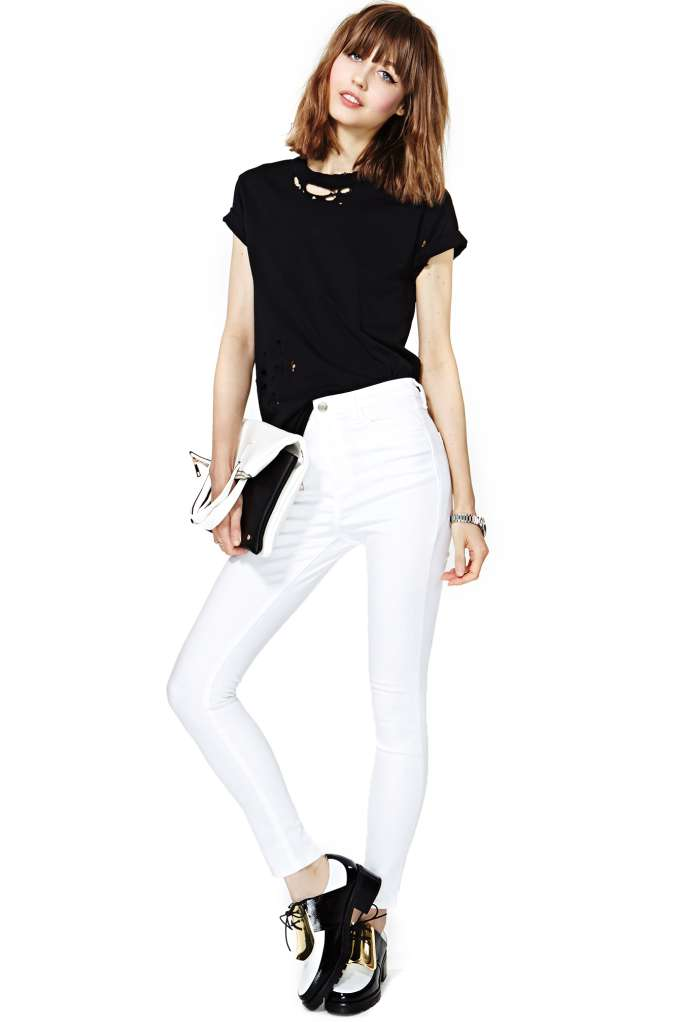 Perfect Ten Skinny Jeans - White in  Clothes Bottoms at Nasty Gal
