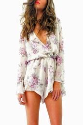 shorts,romper,jumpsuit,floral dress