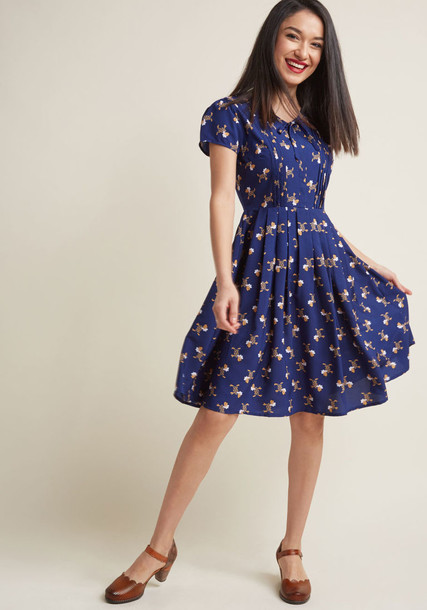 MDD1134A skirt pleated skirt bow pleated new classic navy pattern blue