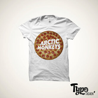 t-shirt arctic monkeys pizza
