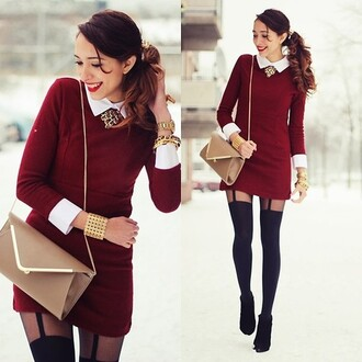 dress red cotton