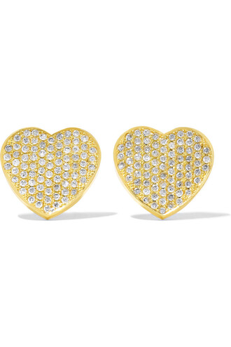heart earrings heart earrings gold jewels