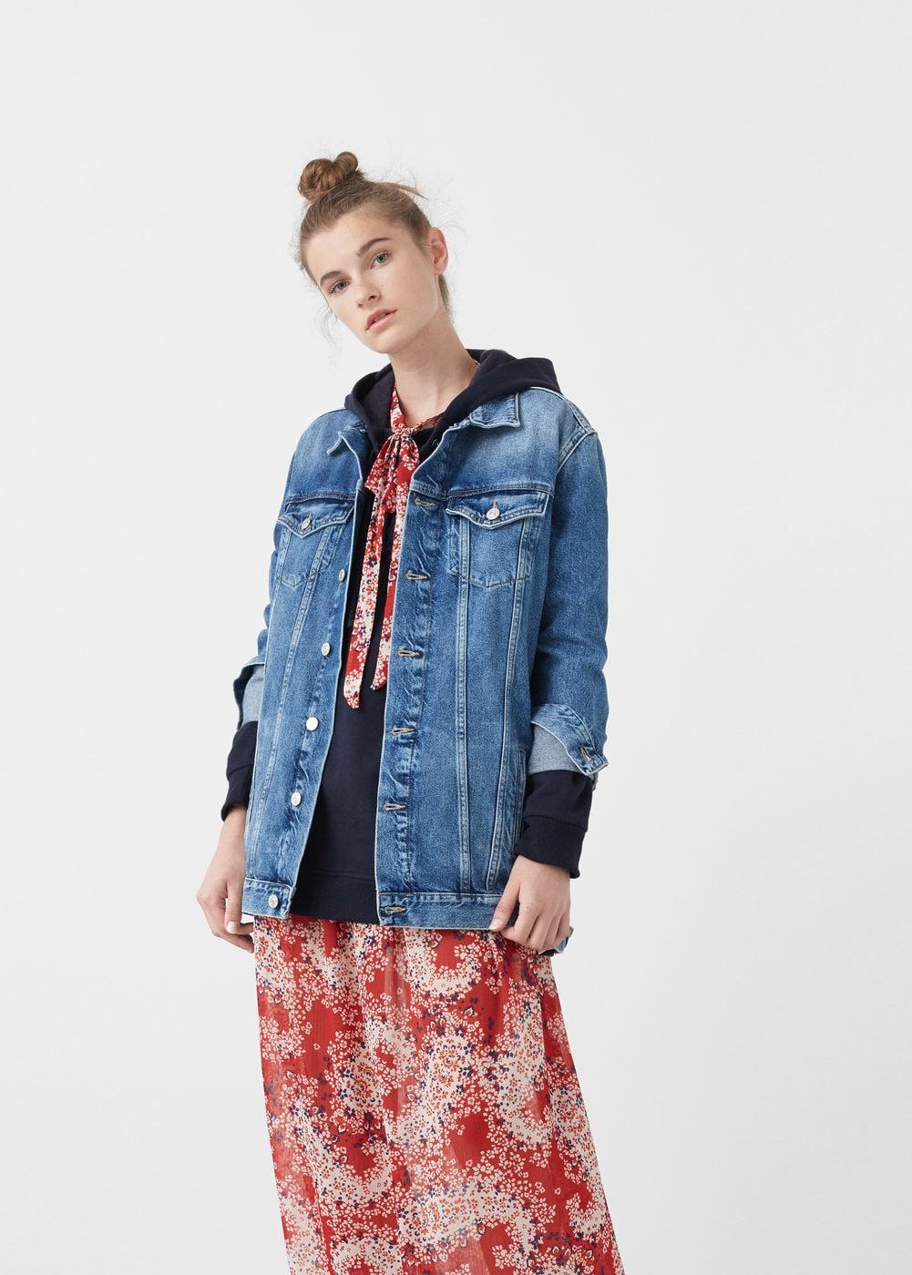 Oversize denim jacket - Women | MANGO USA