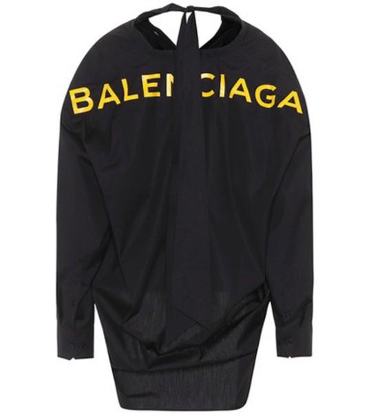 Balenciaga shirt cotton black top