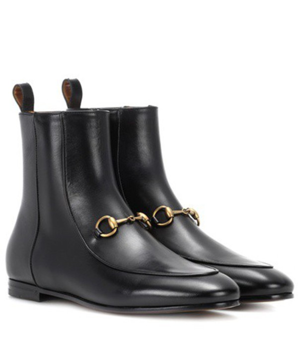 Gucci Jordaan leather ankle boots in black