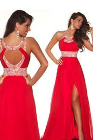 formal sparkle dress prom dress red dress