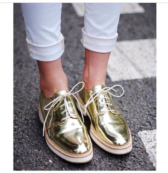 shoes love fashion gorgeous style gold want so bad elegant fashionista