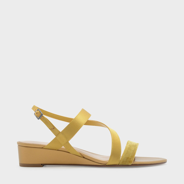 strappy sandals wedge sandals yellow shoes