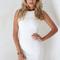 Textured white dress | sabo skirt