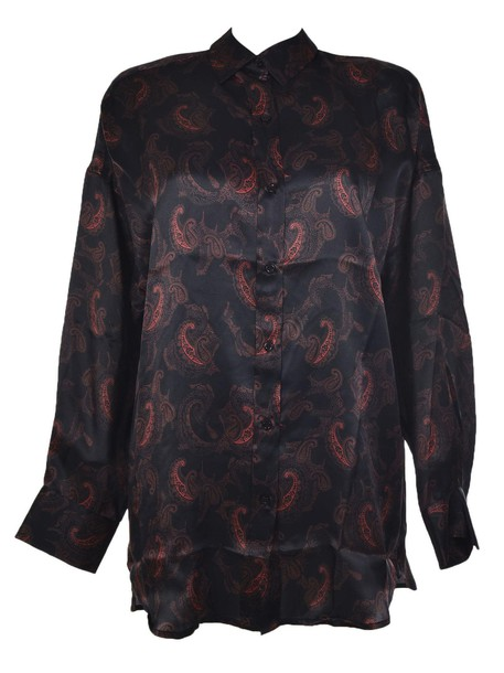 Iro shirt black red top