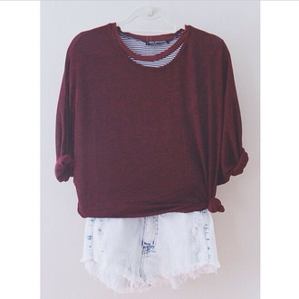 winter sweater sweater grunge acid wash fall outfits fall sweater burgundy shorts