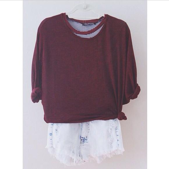 acid wash winter sweater sweater grunge fall outfits fall sweater burgundy