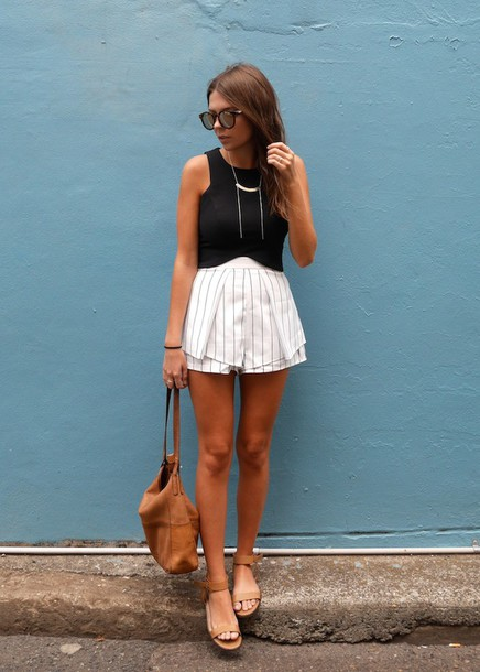 spin dizzy fall blogger top shorts jewels bag shoes