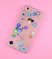 phone cover,girly,glitter,iphone cover,iphone case,iphone