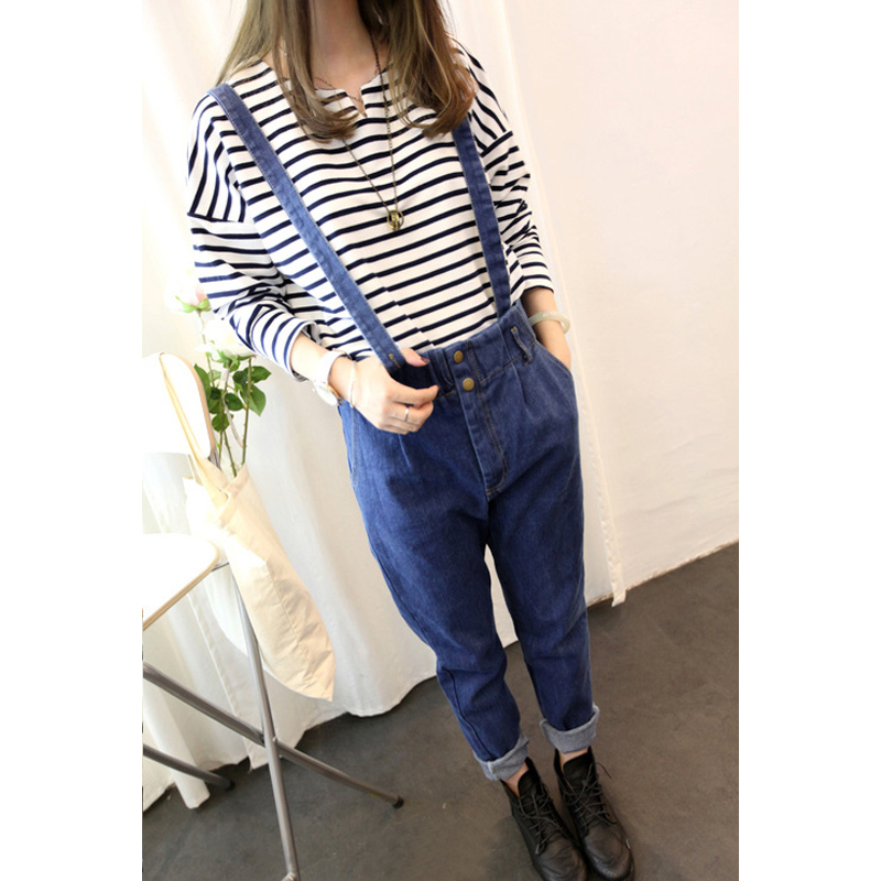Free shipping. 306 2013 ! vintage quality all match denim bib pants-inJeans from Apparel & Accessories on Aliexpress.com