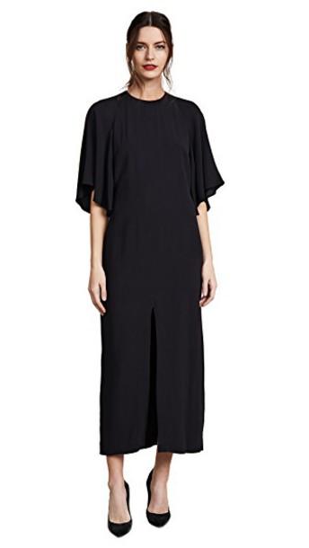 Adam Lippes dress midi dress midi black
