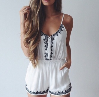 romper aztec black and white romper navajo summer outfits outfit cute outfits