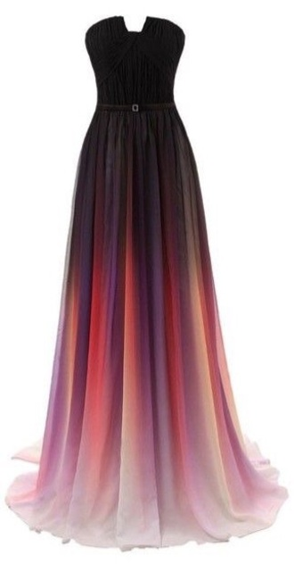 dress prom dress prom gown ombre