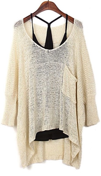 shirt sweater blsck cream sweater long sleeves tank top black t-shirt cream
