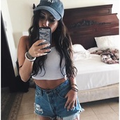 hat,tumblr,cap,youtuber,grunge,pale,aesthetic,black,white,black aesthetic,tumblr outfit,tumblr girl,tumblr clothes,tumblr shirt,tumblr shorts,baseball cap,pale grunge,white top